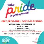Nashville CARES is Offering Drive-thru COVID-19 Testing for Nashville Pride Festival Entry